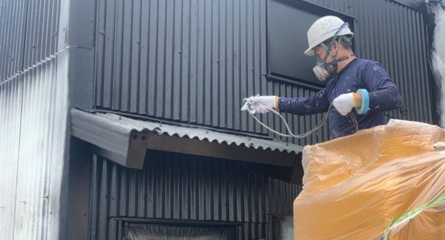 倉庫の塗装工事